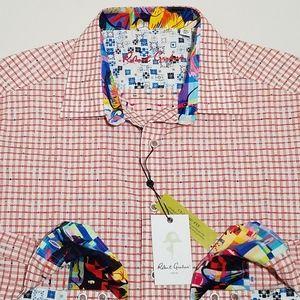 "Robert Graham Long Sleeve Shirt Mens ""Torrey"" Red"